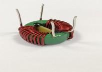 滤波插座时序开关中的卧式磁环电感